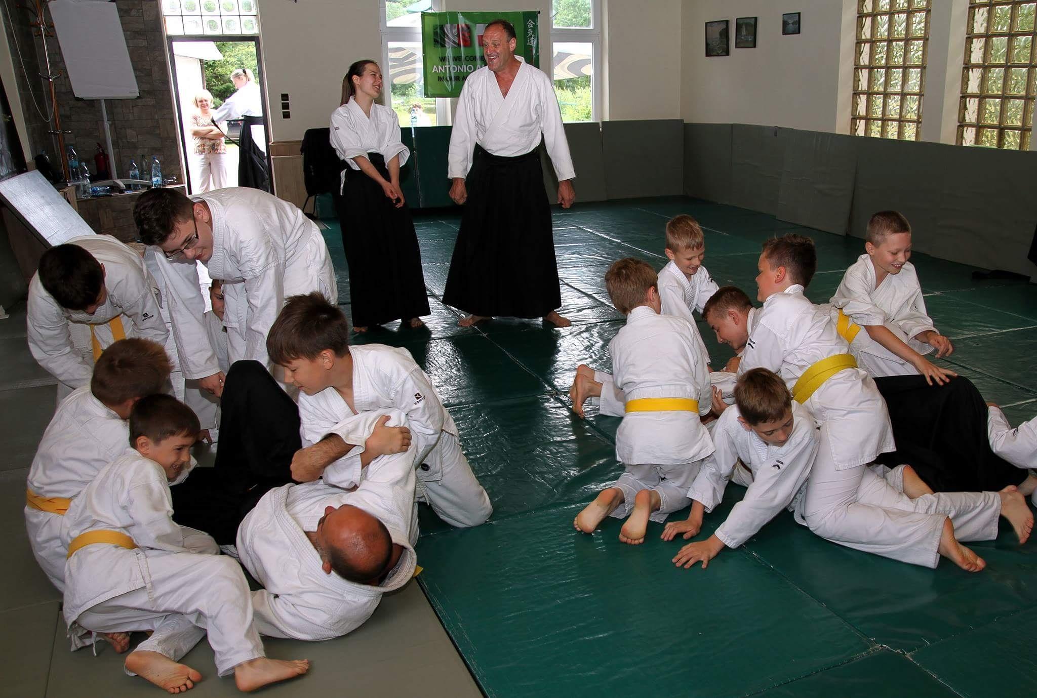 Oboz Łajs trening aikido dla dzieci