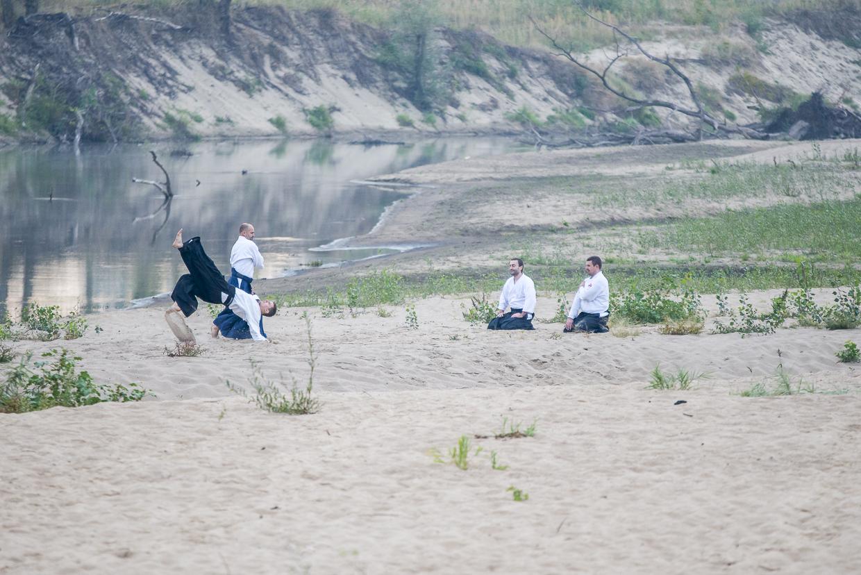 Trening Super Aikido nad Wisla irimi nage