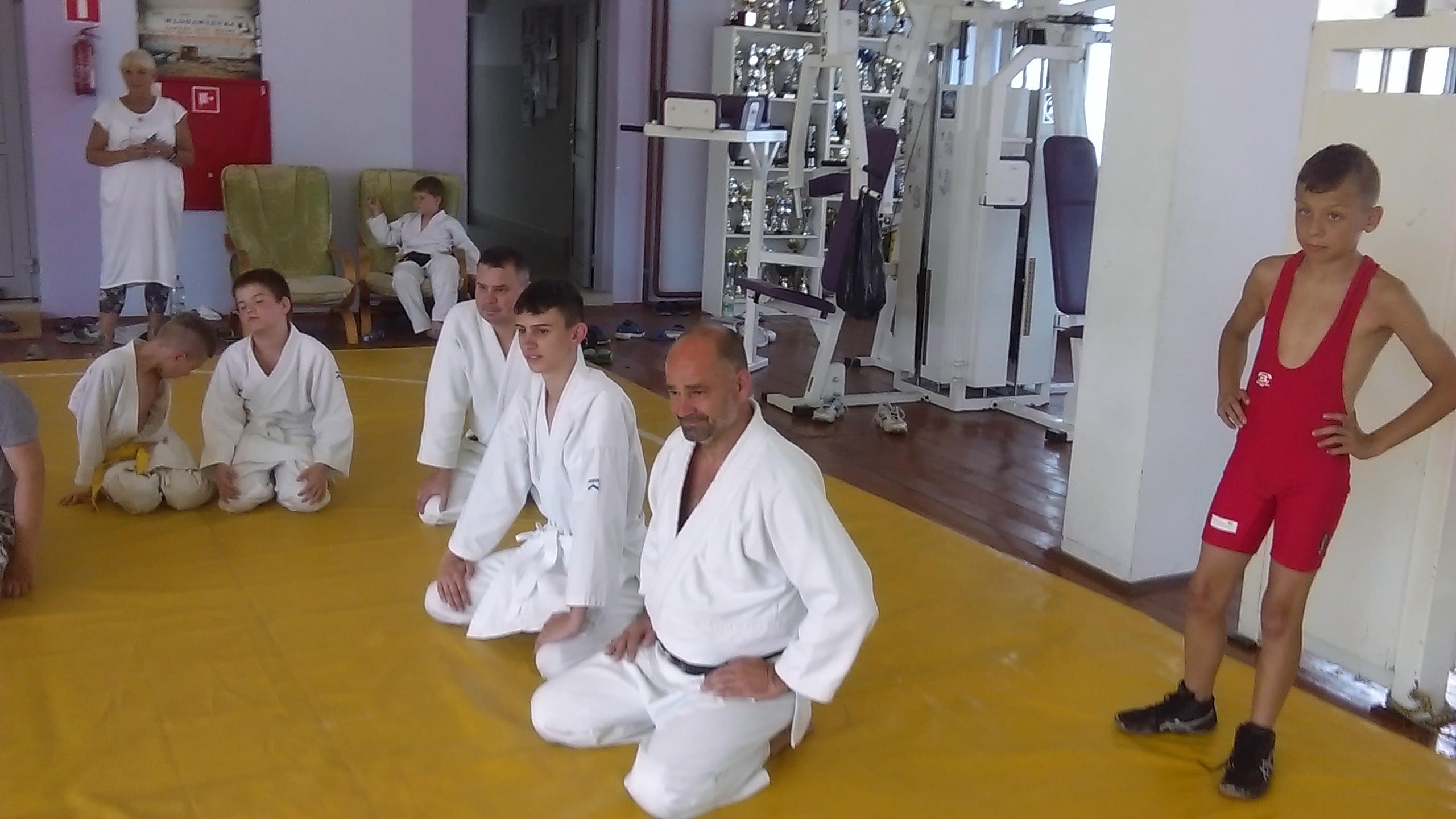 Wspólny trening z zapaśnikami Obóz super aikido Okuninka 2018