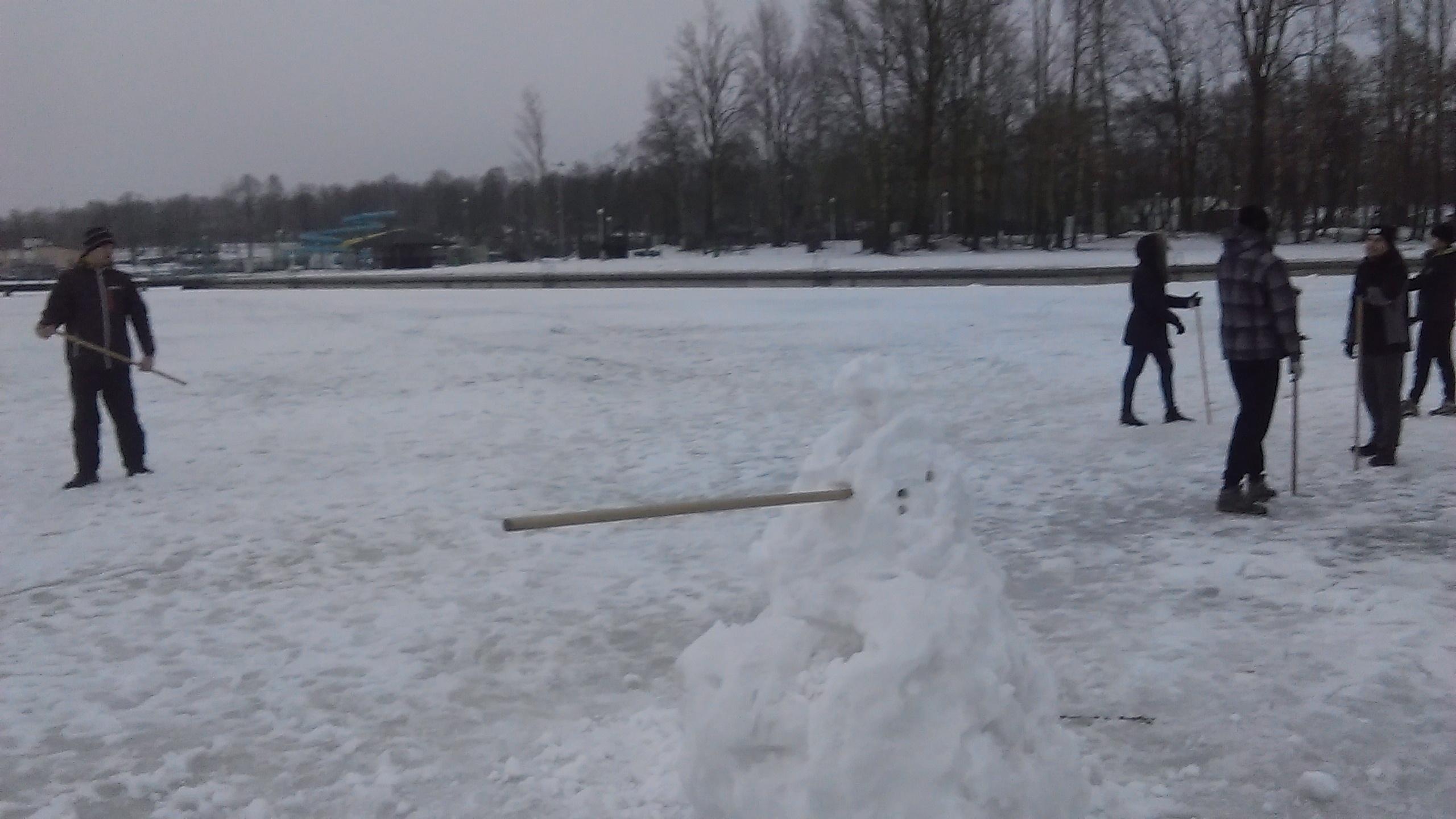 Zimowy Trening aikido Lublin na lodzie Zalewu zemborzyckiego