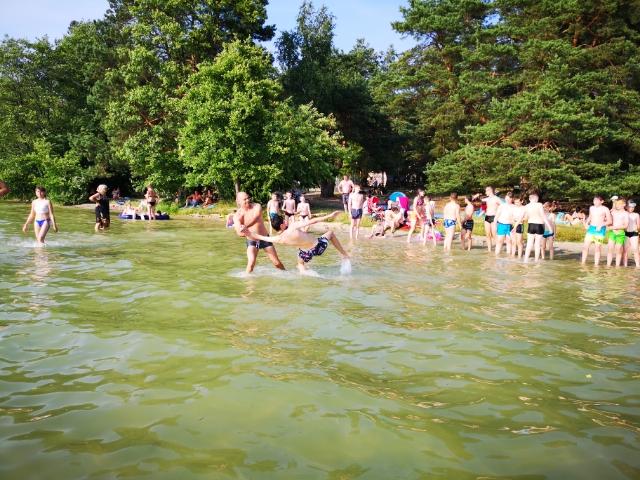 trening w Jeziorze Białym obóz aikido Okuninka (1)