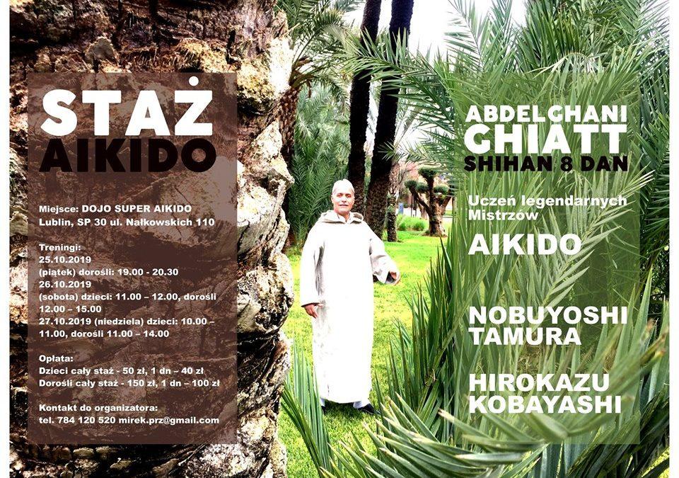 Staż Aikido w Lublinie z Mistrzem Abdelghani Ghiatt 8 DAN